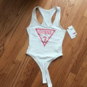 GUESS classic logo Racerback bodysuit-XS